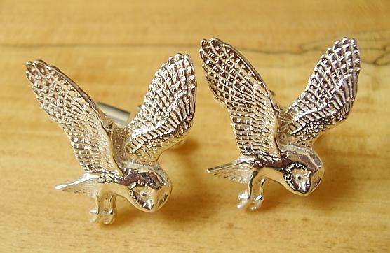 Owl Sterling silver  Cufflinks