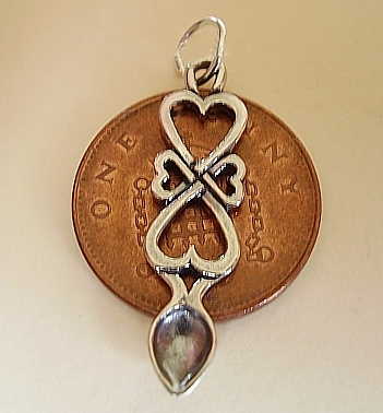 Four Hearts Lovespoon Silver Charm