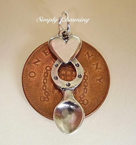 Horseshoe Lovespoon Silver Charm