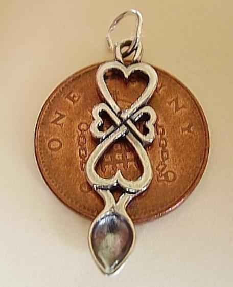 Hearts Lovespoon Silver Charm