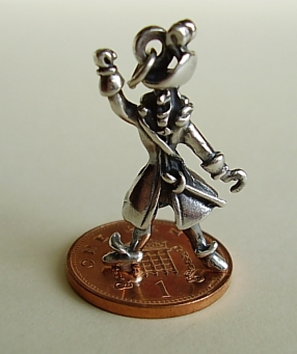 Captain Hook Pirate Silver Charm