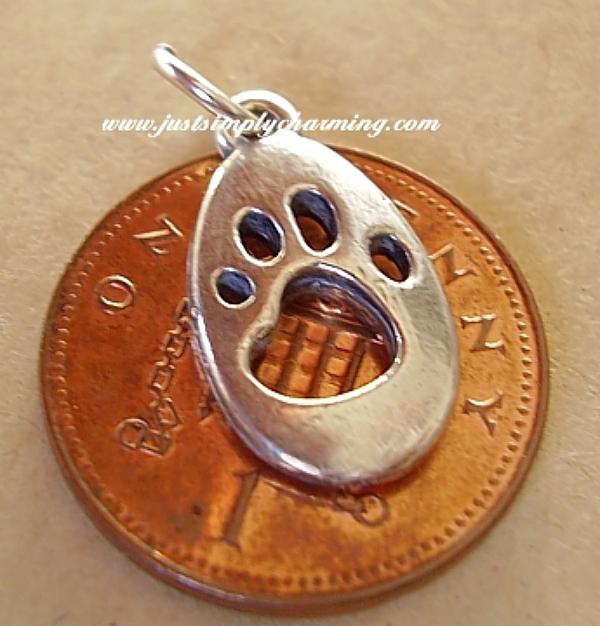 Cats Paw Print Charm