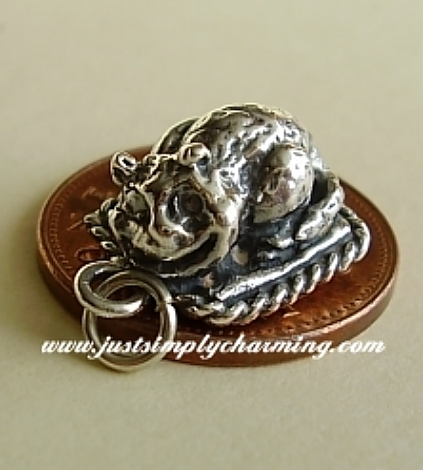 Cheshire Cat Sterling Silver Charm