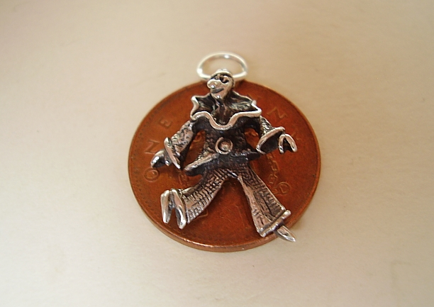 .925 Sterling Silver Circus Clown Charm