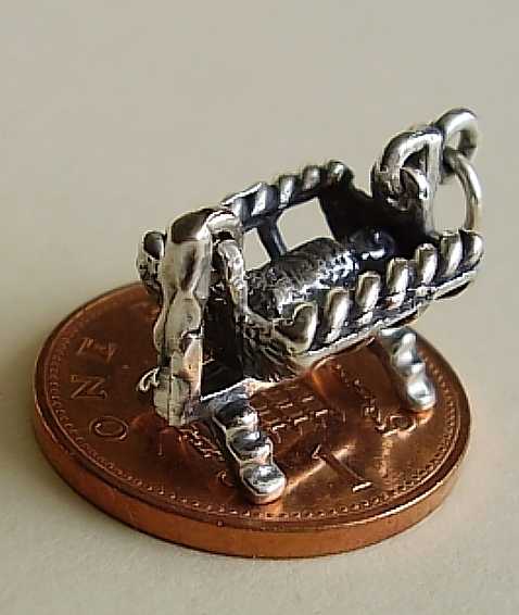 Cradle Sterling Silver Charm
