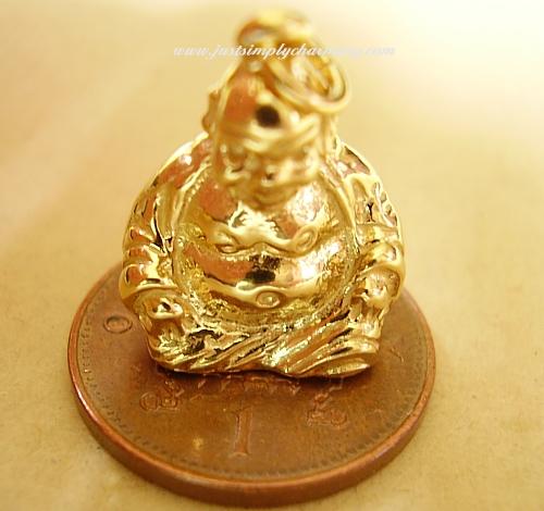 9ct Gold Buddha Charm