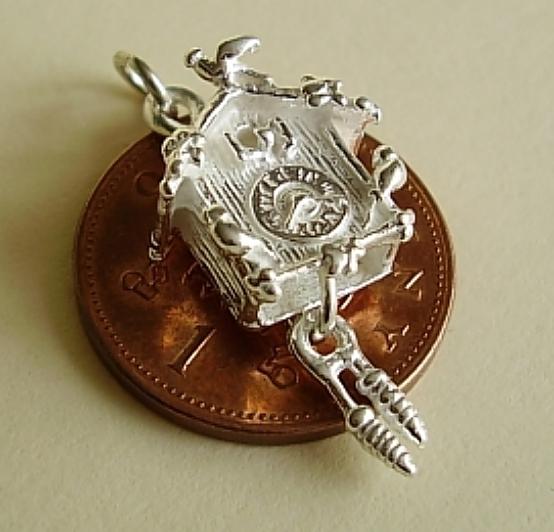 Cuckoo Clock Silver Charm