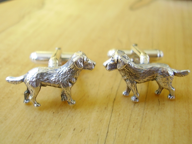 Sterling Silver Labrador Dog Cufflinks