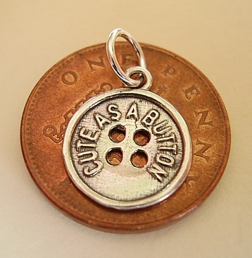 .925 Sterling Silver Cute As A Button Charm