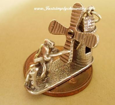 Don Quixote Sterling Silver Charm