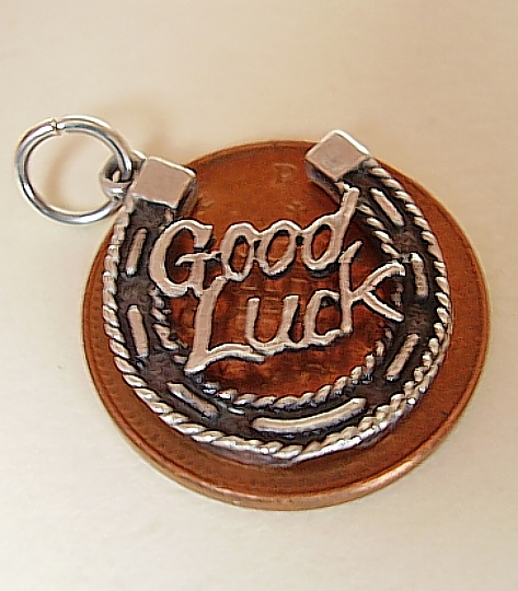 Good Luck In Horsehoe Silver Charm