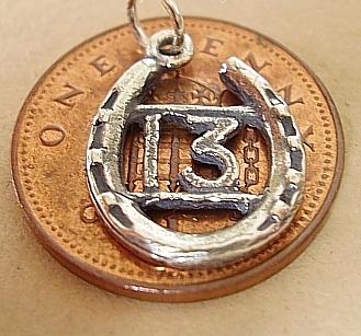 Lucky Thirteen In Horseshoe Silver Charm