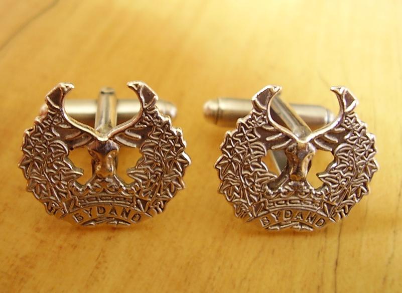 Sterling Silver Gordon Highlanders Regiment Cufflinks