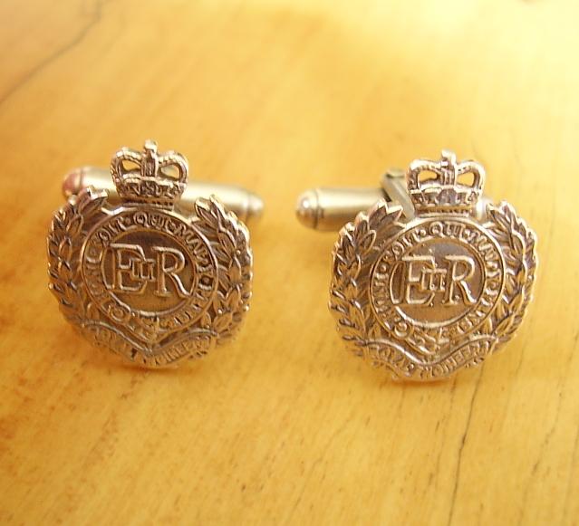 .925 Sterling Silver Royal Engineers Regiment Cufflinks