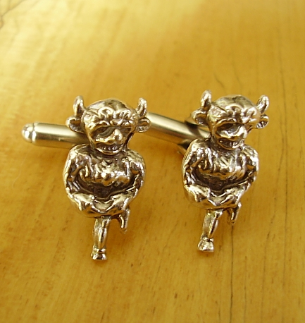 Sterling Silver Lincoln Imp Cufflinks