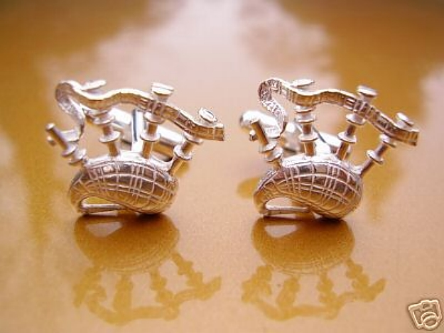 Bagpipes Sterling Silver cufflinks