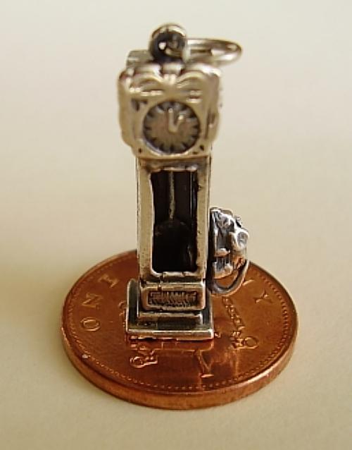 Hickory Dickory Dock Clock Silver  Charm