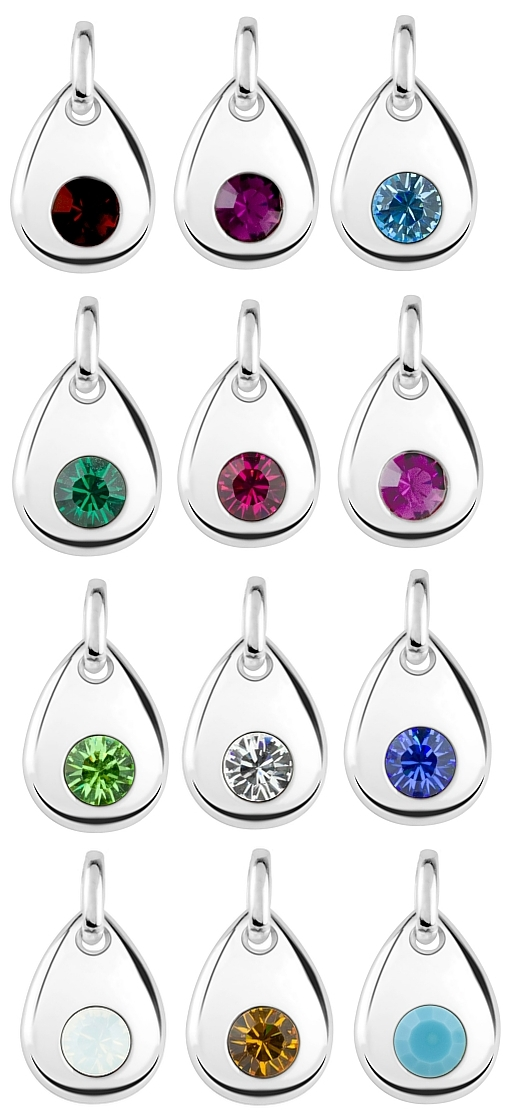 Choose your sterling silver Birthstone Charm