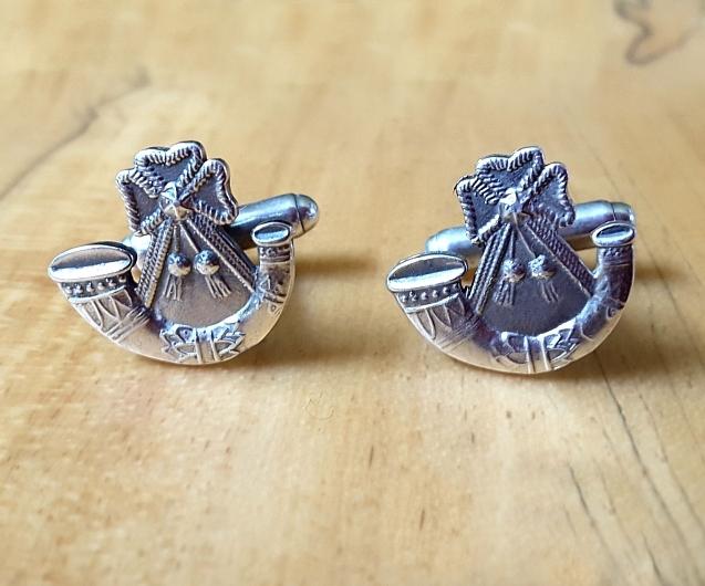 .925 Sterling Silver Light Infantry Regiment Cufflinks