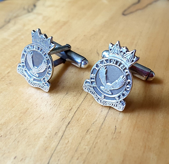 .925 Sterling Silver Air Training Corps Regiment Cufflinks