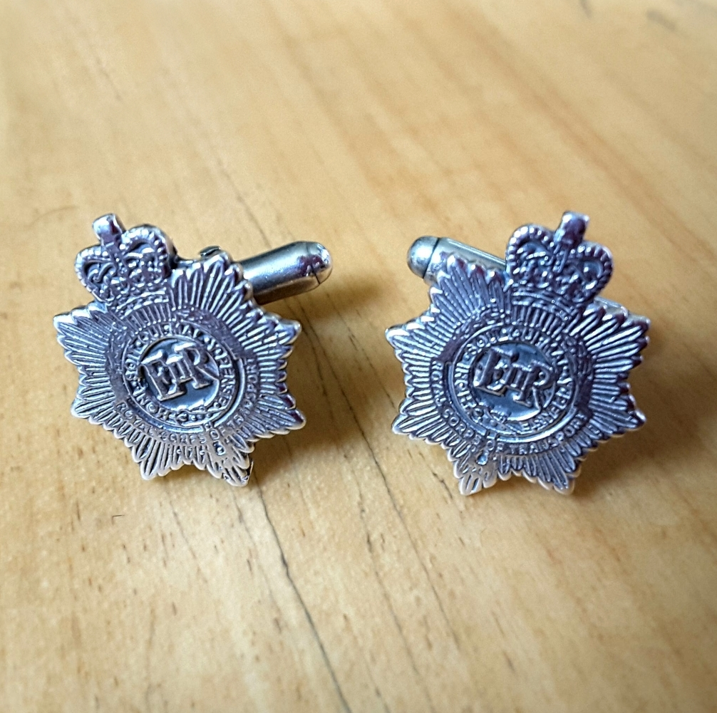 .925 Sterling Silver Royal Corps Of Transport Regiment Cufflinks
