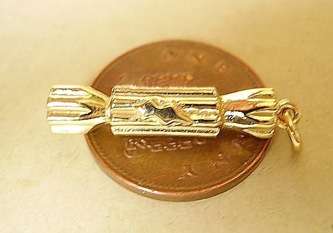 18ct Gold Christmas Cracker Charm
