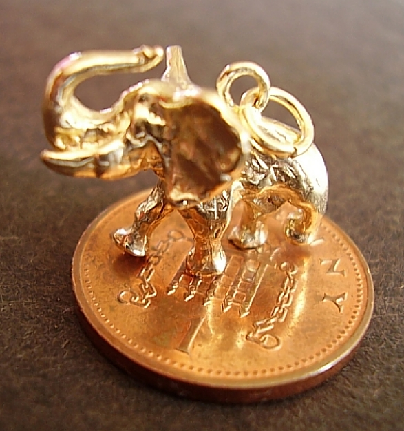 Elephant 9ct Gold Charm