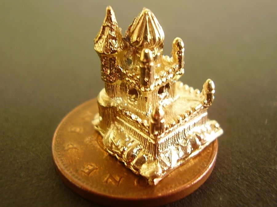 18ct Gold Fairytale Castle Charm