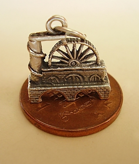 Laxey Wheel Sterling Silver Charm