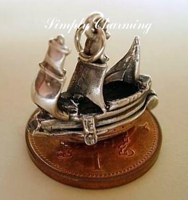 Galleon Ship Charm
