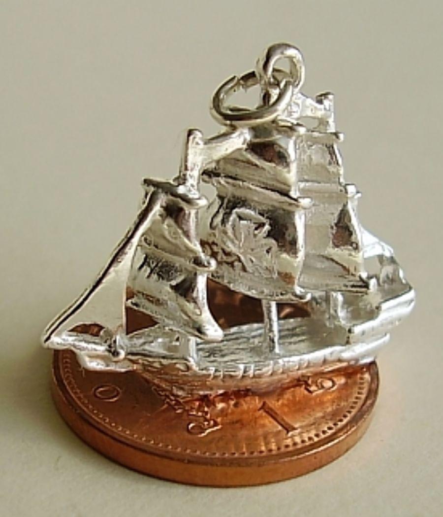 Galleon Boat Charm