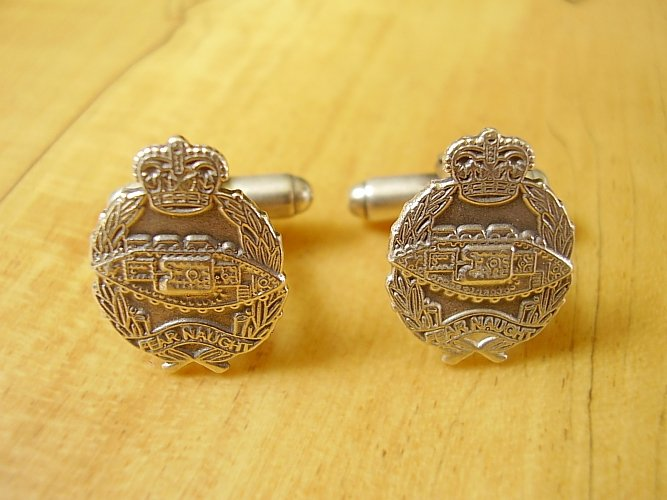 Sterling Silver Royal Tank Regiment Cufflinks
