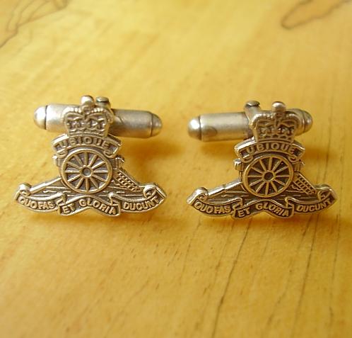 Royal Artillery Sterling Silver Cufflinks