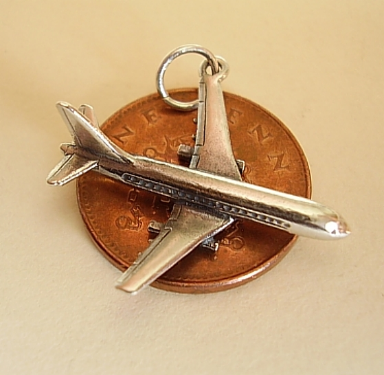 Jumbo Jet Plane Charm
