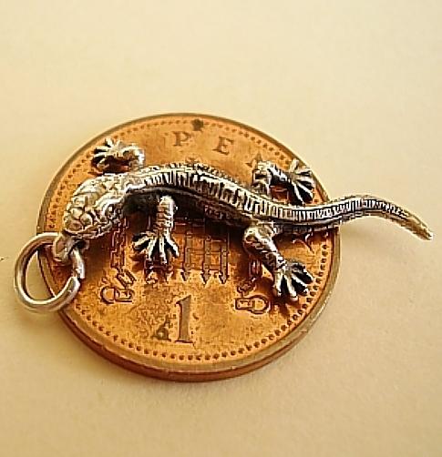 Lizard Sterling Silver Charm