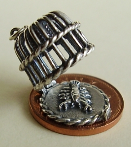 Lobster Pot Sterling Silver Charm