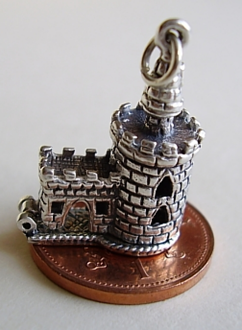 London Bloody Tower Silver Charm