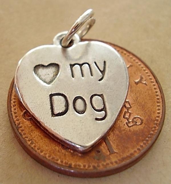Love My Dog Silver Charm