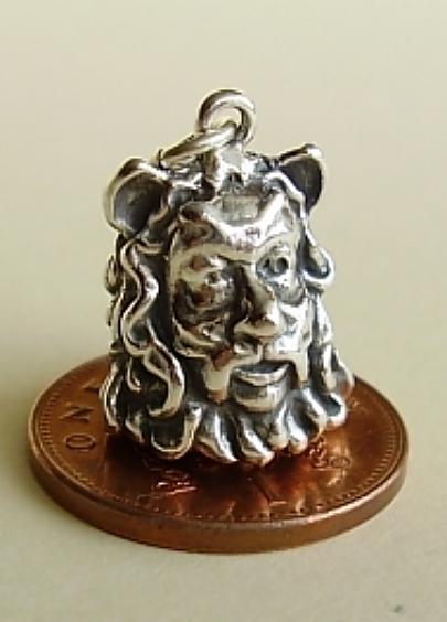 Lion Man Silver Charm