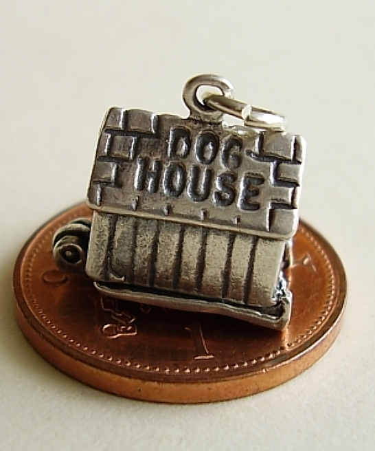In The Doghouse Sterling Silver Charm