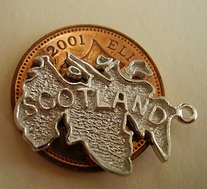 Map Of Scotland Sterling Silver Charm