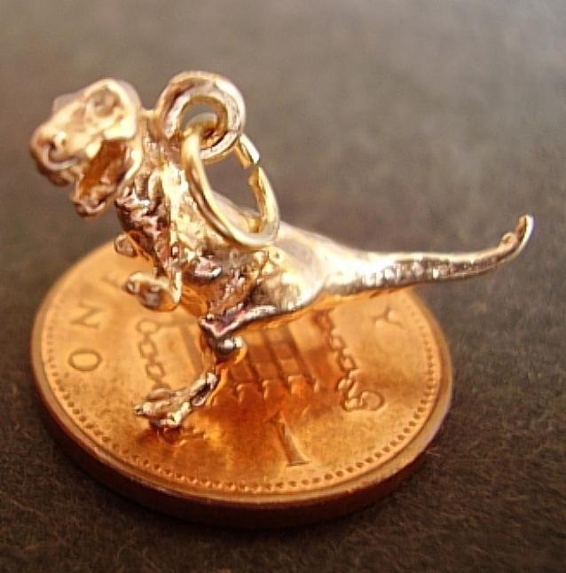 T rex 9ct Gold Charm