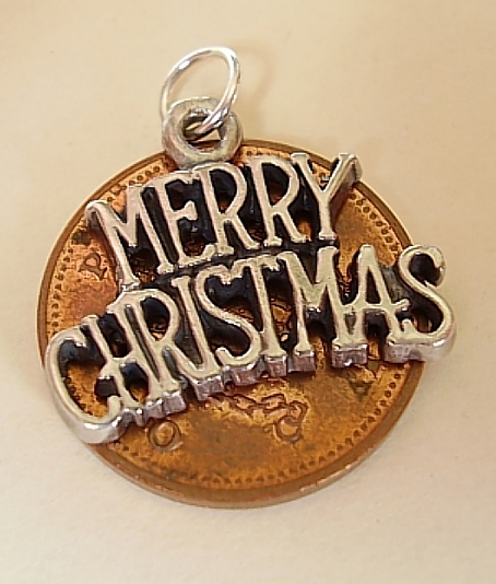 Merry Christmas Sterling Silver Charm