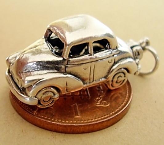 Morris Minor Car Sterling Silver Charm