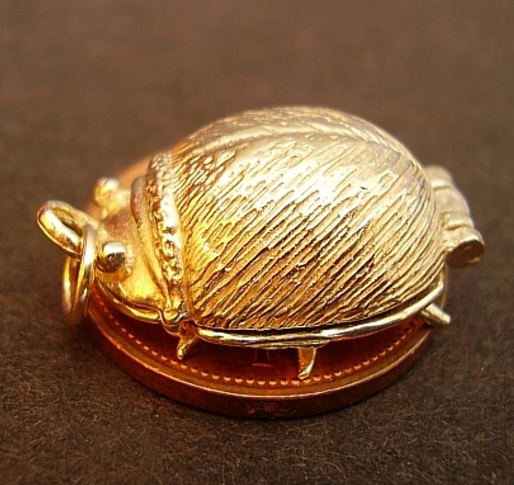 Beatle Beetle 9ct Gold Charm