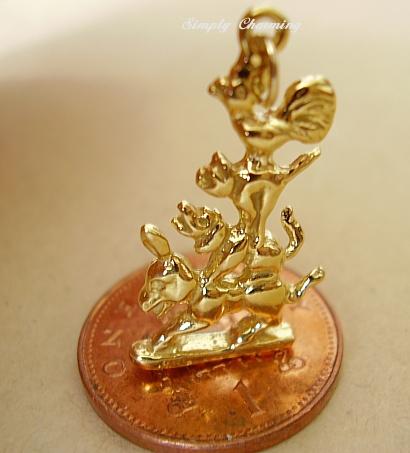 Bremen Musicians 9ct Gold Charm