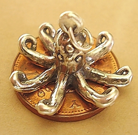 Octopus Sterling Silver Charm
