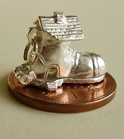 Lady In Shoe Sterling Silver Charm