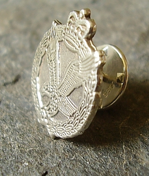 Army Air Corps Sterling Silver Tie Lapel Pin