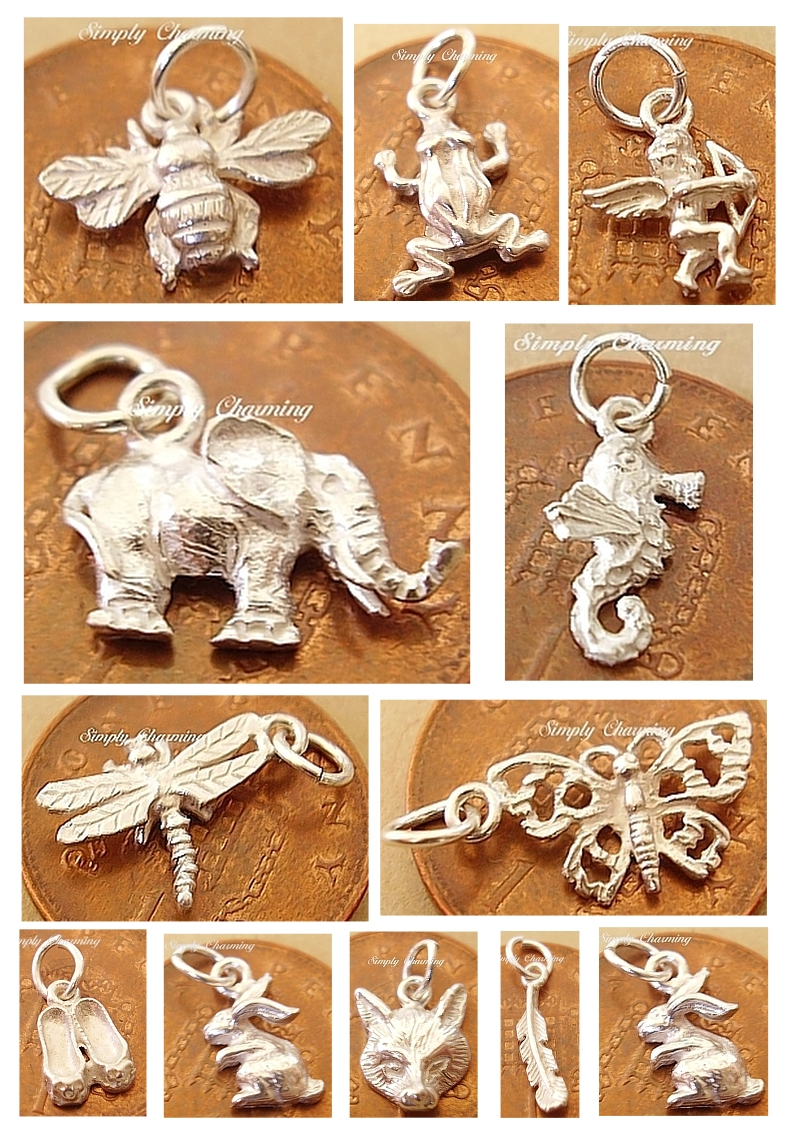 <center>Childrens Miniature Sterling Silver Charms</center>